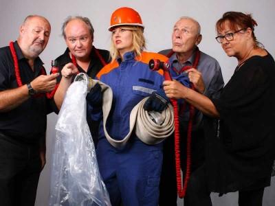 Wenn`s brennt, sind wir da, meinen die Stichlinge von links nach rechts: Frank Oesterwinter, Stephan Winkelhake, Annika